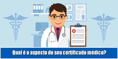 Qual é o aspecto do seu certificado médico?