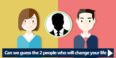 Can We Guess The 2 People Who Will Change Your Life?