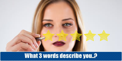 What 3 Words Describe You?