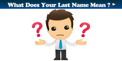 What Does Your Last Name Mean?