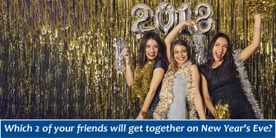 Which 2 Of Your Friends Will Get Together On New Year's Eve?