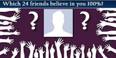 Which Friends Believe In You 100%?