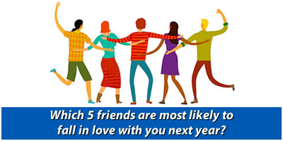 Which 5 Friends Are Most Likely To Fall In Love With You Next Year?