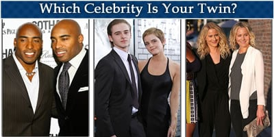 Which Celebrity Is Your Twin?