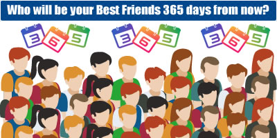 Who Will Be Your Best Friends 365 Days From Now