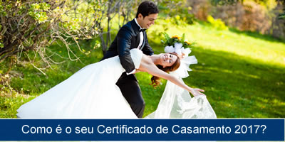 Como é o seu certificado de casamento 2017?