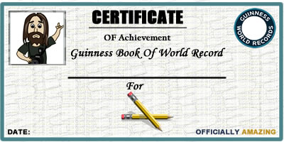 Find Out Your Guinness World Record.