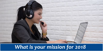 What Is Your Mission For 2018?