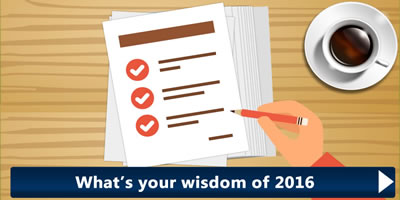 What Is Your Wisdom Of 2016?