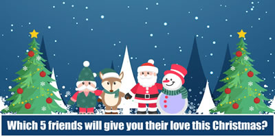Which 5 Friends Will Give You Their Love This Christmas?