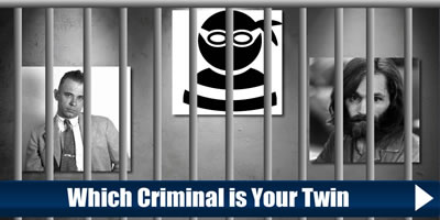 Which Criminal Is Your Twin?