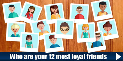 Which Are Your 12 Most Loyal Friends?