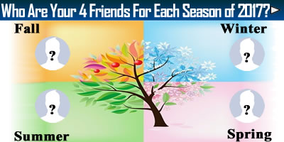 Who Are Your 4 Friends For Each Season Of 2017?