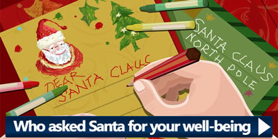 Who Asked Santa For Your Well Being?