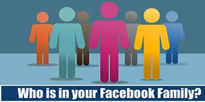Who Is In Your Facebook Family?