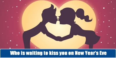 Who Is Waiting To Kiss You On New Year's Eve?