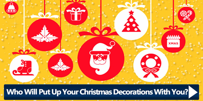 Who Will Put Up Your Christmas Decorations With You?