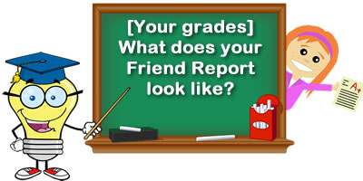 What Does Your Grades In Your Friend Report Look Like?
