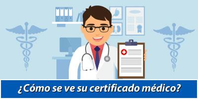 ¿Cómo es su certificado médico?