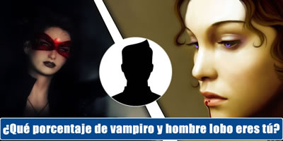 ¿Qué porcentaje de vampiro y hombre lobo eres tú?